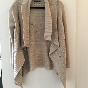 Super comfortable open-front sweater